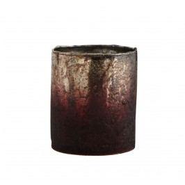 Skleněný svícen Burgundy, červená barva, sklo