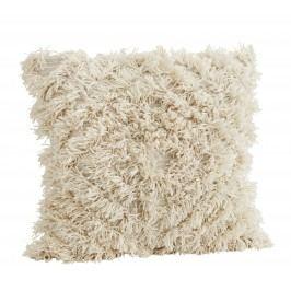 Chlupatý povlak na polštář White 60x60 cm, bílá barva, textil