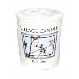 Votivní svíčka Village Candle - Pure Linen, bílá barva