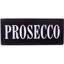 Prosecco, černá barva, kov