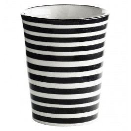 Hrneček Black stripe Morocco, černá barva, keramika