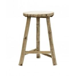 Bambusová stolička Vietnam - střední, hnědá barva, dřevo