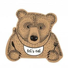 Korkové prostírání Bear, hnědá barva, korek