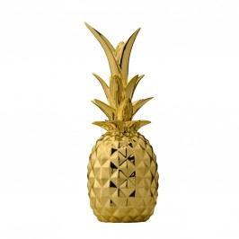 Dekorativní ananas Gold, zlatá barva, keramika