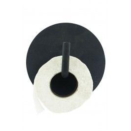 Kovový držák na toaletní papír Black, černá barva, kov