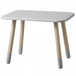 Dřevěný stolek Cool Grey, šedá barva, dřevo