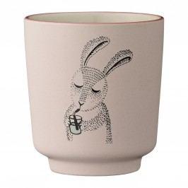 Dětský keramický kalíšek Mollie Rabbit, růžová barva, keramika