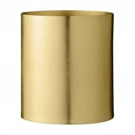 Kovový květník Brass Finish, zlatá barva, kov