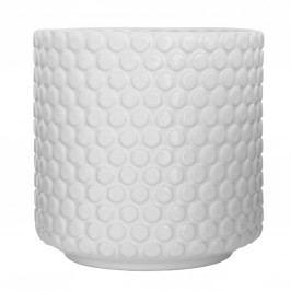 Keramický květník Bubble White, bílá barva, keramika