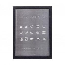 Obraz na stěnu Loundry room, černá barva, dřevo
