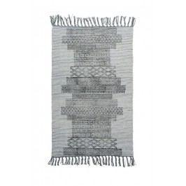 Bavlněný kobereček Karma Grey 60x90 cm, šedá barva, textil