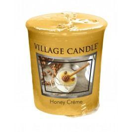 Votivní svíčka Village Candle - Honey Créme, žlutá barva, oranžová barva, hnědá barva, vosk