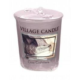 Votivní svíčka Village Candle - Cozy Cashmere, růžová barva, fialová barva, vosk