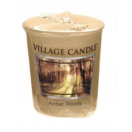 Votivní svíčka Village Candle - Amber Woods, béžová barva, vosk