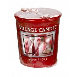 Votivní svíčka Village Candle - Peppermint Stick, červená barva, vosk