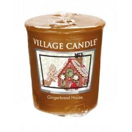 Votivní svíčka Village Candle - Gingerbread House, hnědá barva, vosk