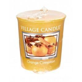 Votivní svíčka Village Candle - Orange Cinnamon, žlutá barva, vosk