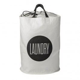 Koš na prádlo Black&White, černá barva, bílá barva, textil