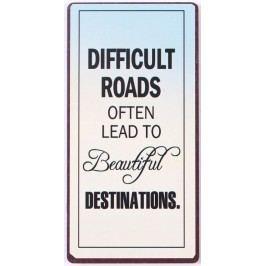 Difficult roads, modrá barva, béžová barva, kov