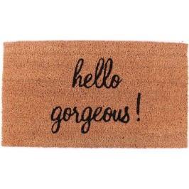 La finesse Kokosová rohožka Hello gorgeous, hnědá barva