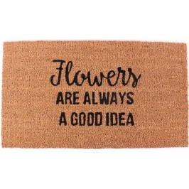 La finesse Kokosová rohožka Flowers, hnědá barva