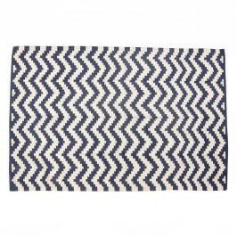 Pletený koberec Cik Cak 120x180, modrá barva, bílá barva, textil
