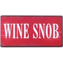 Wine snob, červená barva, černá barva, kov
