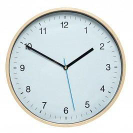 Nástěnné hodiny Blue Wood, modrá barva, sklo, dřevo