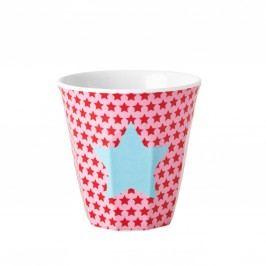 Melaminový pohárek Girls star, červená barva, modrá barva, plast