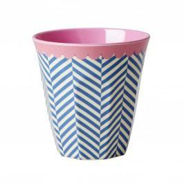 Melaminový pohárek Sailor stripe, růžová barva, modrá barva, melamin