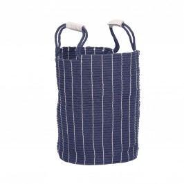 Bavlněný koš na prádlo Blue, modrá barva, textil