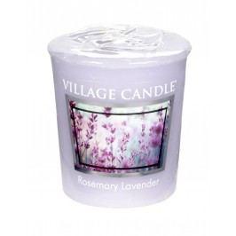 VILLAGE CANDLE Votivní svíčka Village Candle - Rosemary Lavender, fialová barva