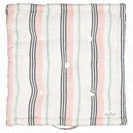 GREEN GATE Sedák Leoma peach 50x50, růžová barva, šedá barva, textil