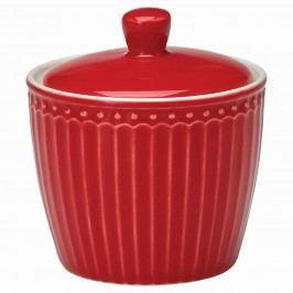 GREEN GATE Porcelánová cukřenka Alice red, červená barva, porcelán