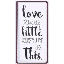 La finesse Magnet Love in little house, bílá barva, kov