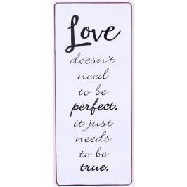 La finesse Plechová cedulka True Love, bílá barva, kov