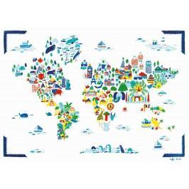 Fine Little Day Plakát Fine Little World 50x70 cm, multi barva, papír