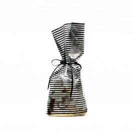 TAFELGUT Dárkový sáček Stripes, černá barva, čirá barva, plast