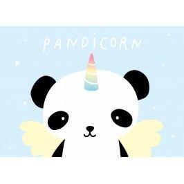 A Little Lovely Company Pohlednice Pandicorn, modrá barva, papír