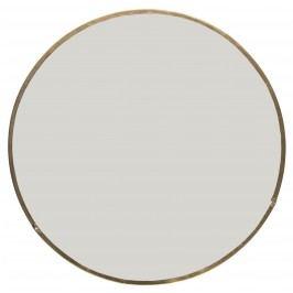 IB LAURSEN Kulaté zrcátko v kovovém rámu, měděná barva, čirá barva, sklo, kov