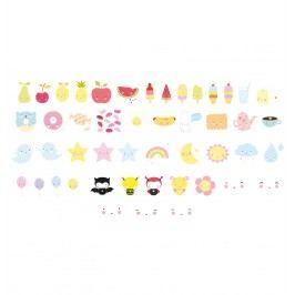 A Little Lovely Company Set obrázků pro Lightbox: Kawaii, multi barva, plast
