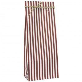IB LAURSEN Papírový sáček Red Stripes M, červená barva, bílá barva, papír