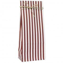 IB LAURSEN Papírový sáček Red Stripes S, červená barva, papír