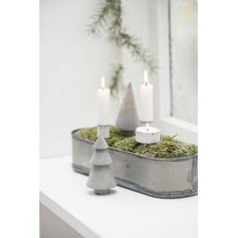 IB LAURSEN Bílý zapichovací svícen na čajovou svíčku, bílá barva, kov