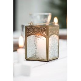 IB LAURSEN Lucernička Orient pressed, zlatá barva, čirá barva, sklo, kov