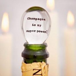 La de da! Living Postříbřená čajová lžička Champagne Is My Super Power, stříbrná barva, kov