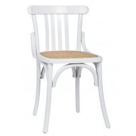 IB LAURSEN Dřevěná židle Marais White, bílá barva, dřevo, kov