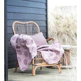 IB LAURSEN Bavlněný přehoz Malva 130x180, fialová barva, textil