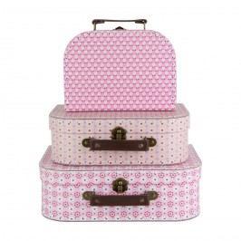 sass & belle Kufřík Retro Daisy - 3 velikosti Velikost M, růžová barva, papír