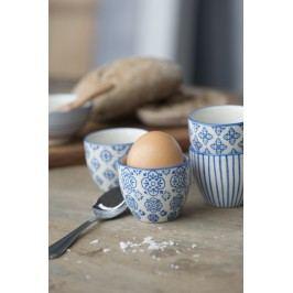 IB LAURSEN Stojánek na vajíčko Casablanca blue Typ B, modrá barva, keramika
